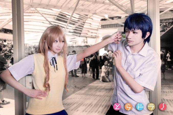 TIGER×DRAGON! - Naoshi x Yukari(小直・わか紫) Ryuji Takasu, Shika(鹿子) Taiga Aisaka Cosplay Photo